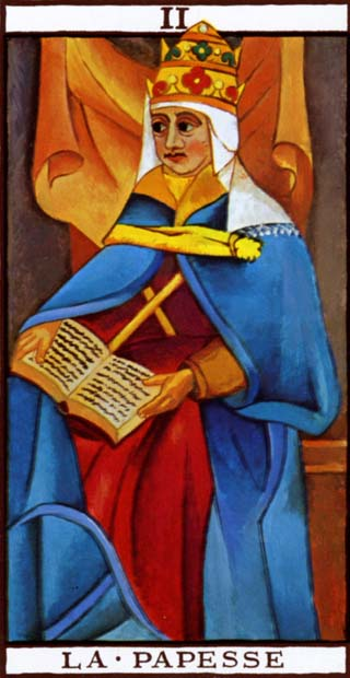 de hoge priesteres tarotkaart