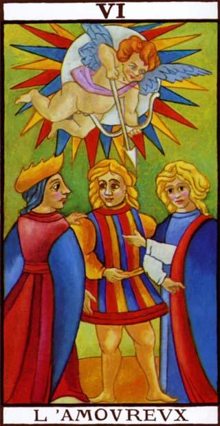 de geliefden tarotkaart