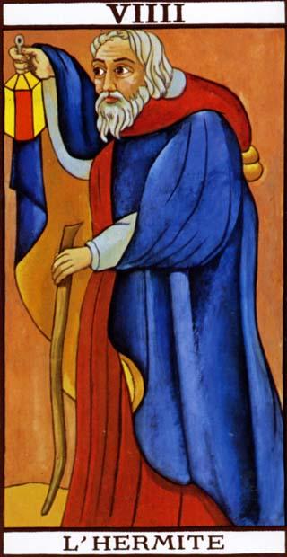 kluizenaar tarotkaart