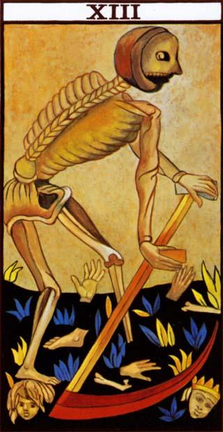 de dood tarotkaart