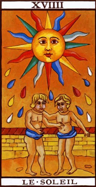 de zon tarotkaart